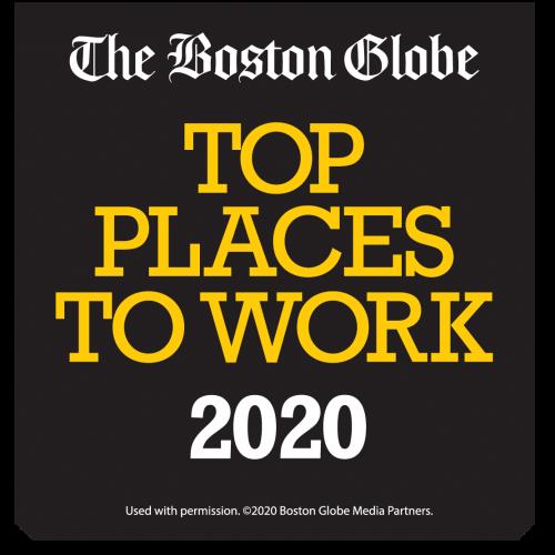 Boston Globe Top Places to Work 2020